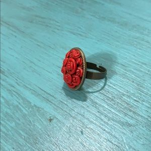 Jewelry - Rare Find Adjustable Rosette Ring